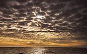 High cloud shortly after dawn, South Atlantic Ocean, near Falkland Islands