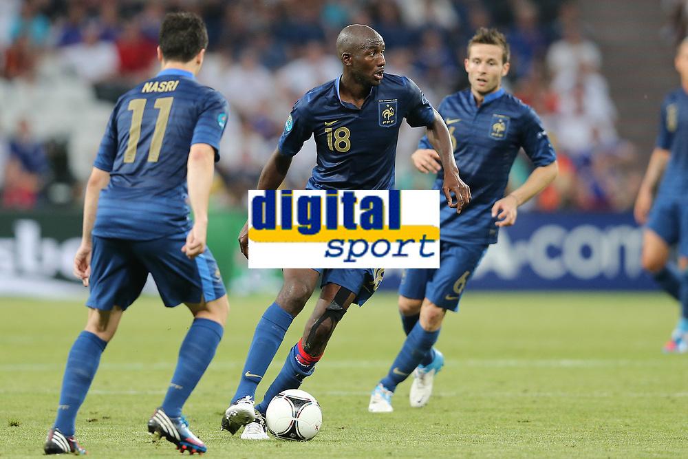 FOOTBALL - UEFA EURO 2012 - DONETSK - UKRAINE - GROUP STAGE - GROUP D - FRANCE v ENGLAND - 11/06/2012 - PHOTO PHILIPPE LAURENSON / DPPI - ALOU DIARRA (FRA)