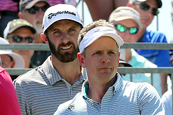 March 23, 2019 - Palm Harbor, FL, U.S. - PALM HARBOR, FL - MARCH 23: Dustin Johnson and Luke Donald look down the first fairway before teeing off during the third round of the Valspar Championship on March 23, 2019, at Westin Innisbrook-Copperhead Course in Palm Harbor, FL. (Photo by Cliff Welch/Icon Sportswire) (Credit Image: © Cliff Welch/Icon SMI via ZUMA Press)
