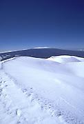 Mauna Kea (Mauna Loa in bkgd), Island of Hawaii, Hawaii, USA<br />