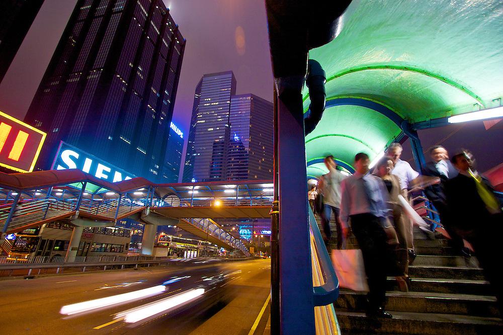 Whan Chai District in Hong Kong