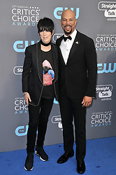 Diane Warren and Common at The 23rd Annual Critics' Choice Awards held at the Barker Hangar on January 11, 2018 in Santa Monica, CA, USA (Photo by Sthanlee B. Mirador/Sipa USA)