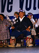 The New Stuyahok Dancers, a Yupik group, performing at Quyana during the Alaska Federation of Natives Convention in Anchorage, Alaska.