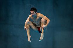 Illya Kvasha of Ukraine in action during the Mens 3m Springboard Preliminary - Mandatory byline: Rogan Thomson/JMP - 12/05/2016 - DIVING - London Aquatics Centre - Stratford, London, England - LEN European Aquatics Championships 2016 Day 4.