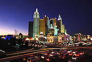 New York-New York hotel & casino, complete with a scaled-down Statue of Liberty. Las Vegas, Nevada. USA.