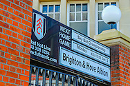 Front advertisment board for Fulham and Brighton and Hove Albion during the Sky Bet Championship match at Craven Cottage, London<br /> Picture by Richard Brooks/Focus Images Ltd 07947656233<br /> 02/01/2017