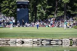 August 10, 2018 - Town And Country, Missouri, U.S - Fans gather to watch players on the third green during round two of the 100th PGA Championship on Friday, August 10, 2018, held at Bellerive Country Club in Town and Country, MO (Photo credit Richard Ulreich / ZUMA Press) (Credit Image: © Richard Ulreich via ZUMA Wire)