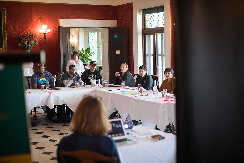 Shelburne, VT - September 9, 2019: The second day of the Chefs Boot Camp for Policy and Change hosted by the James Beard Foundation at Shelburne Farms.<br /> <br /> Photos by Clay Williams for The James Beard Foundation.<br /> <br /> © Clay Williams / claywilliamsphoto.com