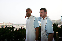 2005-07-25, Beijing, <br />Wayne Rooney and Wes Brown and Manchester United'players visit Tian'An Men in Beijing<br />Photo: Fotosports International/Osports.cn