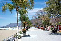Lake front, Chapala, Jalisco, Mexico. Lake Chapala is the largest body of freshwater in Mexico.