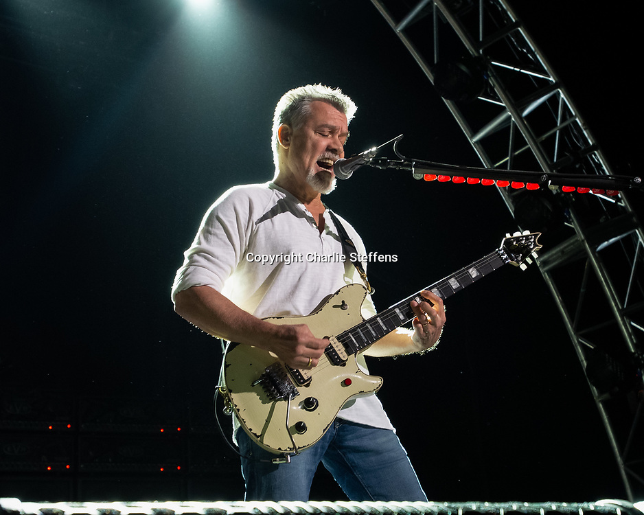 EDDIE VAN HALEN performs at Irvine Meadows Amphitheatre in Irvine, California
