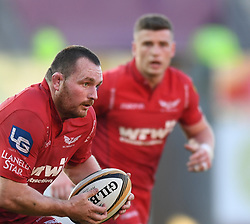 Scarlets Ken Owens<br /> <br /> Photographer Mike Jones/Replay Images<br /> <br /> Guinness PRO14 Round 22 - Scarlets v Cheetahs - Saturday 5th May 2018 - Parc Y Scarlets - Llanelli<br /> <br /> World Copyright © Replay Images . All rights reserved. info@replayimages.co.uk - http://replayimages.co.uk