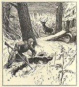 Hunting Deer Illustrating the story ' A Boy among the Red Indians ' From the book ' The true story book ' Edited by ANDREW LANG illustrated by L. BOGLE, LUCIEN DAVIS, H. J. FORD, C. H. M. KERR, and LANCELOT SPEED. Published by Longmans, Green, and Co. London and New York in 1893