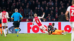 Quincy Promes #11 of Ajax scores the first goal for Ajax after a good action of Donny van de Beek #6 of Ajax during the match between Ajax and PSV at Johan Cruyff Arena on February 02, 2020 in Amsterdam, Netherlands