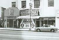 1975 Cine Art Adult Theater on Hollywood Blvd.