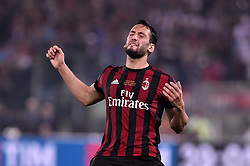 May 9, 2018 - Rome, Italy - Hakan Calhanoglu of Milan looks dejected during the TIM Cup - Coppa Italia final match between Juventus and AC Milan at Stadio Olimpico, Rome, Italy on 9 May 2018. (Credit Image: © Giuseppe Maffia/NurPhoto via ZUMA Press)