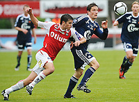 Fotball , 17. Juni 2009 , nm , cup ,  Bryne - Viking , Bryne Stadion, Martin Fillo , Viking , Kai Ove Stokkeland , Bryne ,  Foto: Tommy Ellingsen