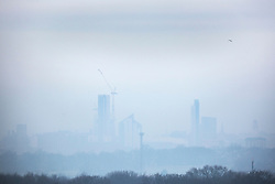 © Licensed to London News Pictures. 17/12/2019. Leeds UK. Fog covered Leeds this morning as the UK prepares for further wind, snow & ice in the coming days. Photo credit: Andrew McCaren/LNP