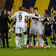 Fenerbahce's Emre Belozoglu (3ndR) during their Turkish superleague soccer derby Fenerbahce between Besiktas at the Sukru Saracaoglu stadium in Istanbul Turkey on Sunday 22 March 2015. Photo by Aykut AKICI/TURKPIX