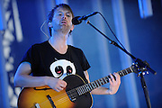 Radiohead performs at Lollapalooza 2008 as headliner for day one.