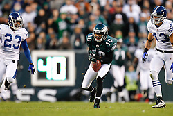 Philadelphia Eagles wide receiver DeSean Jackson #10 holds onto a pass during the NFL Game between the Indianapolis Colts and the Philadelphia Eagles. The Eagles won 26-24 at Lincoln Financial Field in Philadelphia, Pennsylvania on Sunday November 7th 2010. (Photo By Brian Garfinkel)