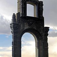 South America, Bolivia, La Paz. Monument at Mirador Killi Killi in central La Paz.