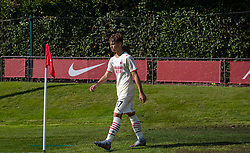 LIVERPOOL, ENGLAND - Wednesday, September 15, 2021: AC Milan's Christian Foglio walks out for the second half during the UEFA Youth League Group B Matchday 1 game between Liverpool FC Under19's and AC Milan Under 19's at the Liverpool Academy. Liverpool won 1-0. (Pic by David Rawcliffe/Propaganda)