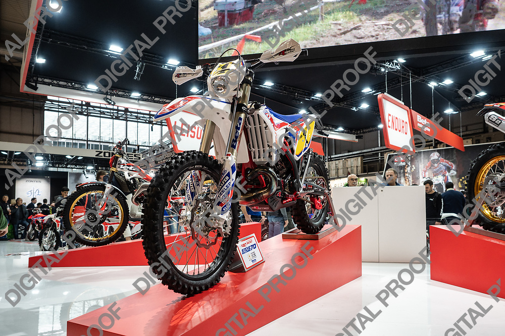 RHO Fieramilano, Milan Italy - November 07, 2019 EICMA Expo. Beta Motorcycles in exhibit at EICMA 2019.