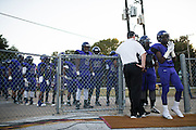 The Lincoln Tigers take the field before kickoff against the Carter Cowboys during a high school football game at Forester Stadium in Dallas, Texas on September 18, 2015. (Cooper Neill/Special Contributor)