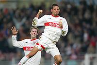 Fotball, 31. januar 2004, Bundesliga, Marco Streller, Kevin Kuranyi Stuttgart<br /> Bundesliga VfB Stuttgart - FC Hansa Rostock