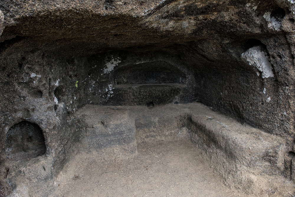 Caves used by pirates<br /> Floreana Island<br /> Galapagos<br /> Ecuador,  South America