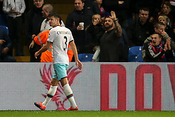Aaron Cresswell of West Ham United receives a red card, following his second yellow - Mandatory by-line: Jason Brown/JMP - 15/10/2016 - FOOTBALL - Selhurst Park - London, England - Crystal Palace v West Ham United - Premier League