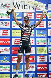 08.07.2012, Universitaetsring, Wien, AUT, 64. Oesterreich Rundfahrt, 8. Etappe, Podersdorf am Neusiedler See - Wien, im Bild Robert Vrecer (SLO, Platz 3, Team Vorarlberg) // third place, Team Vorarlberg driver Robert Vrecer of Slovenia during the 64th Tour of Austria, Stage 8, from Podersdorf/Neusiedlersee to Vienna, Vienna, Austria on 20120708, EXPA Pictures © 2012, PhotoCredit: EXPA/ M. Gruber