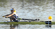 Hazenwinkel, BELGIUM,  Annie VERNON, with Cornish Blade markings, in the last stroke of the morning time trail, at the GB Rowing Senior Trails, on Sun,15.04.2007  [Credit, Peter Spurrier/Intersport-images]   [Mandatory Credit, Peter Spurier/ Intersport Images].