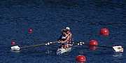 """Atlanta; USA. GBR M2X; """"Bow, Guy POOLEY and Bobby THATCHER. 1996 Olympic Rowing Regatta Lake Lanier; Georgia [Mandatory Credit Peter Spurrier/ Intersport Images]"""