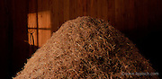 This haystack was created and photographed in the studio for an ad.