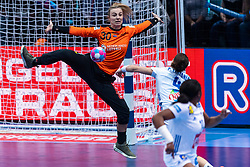 14-12-2018 FRA: Women European Handball Championships France - Netherlands, Paris<br /> Second semi final France - Netherlands / Rinka Duijndam #30 of Netherlands on goal by Netherlands, Pauline Coatanea #4 of France