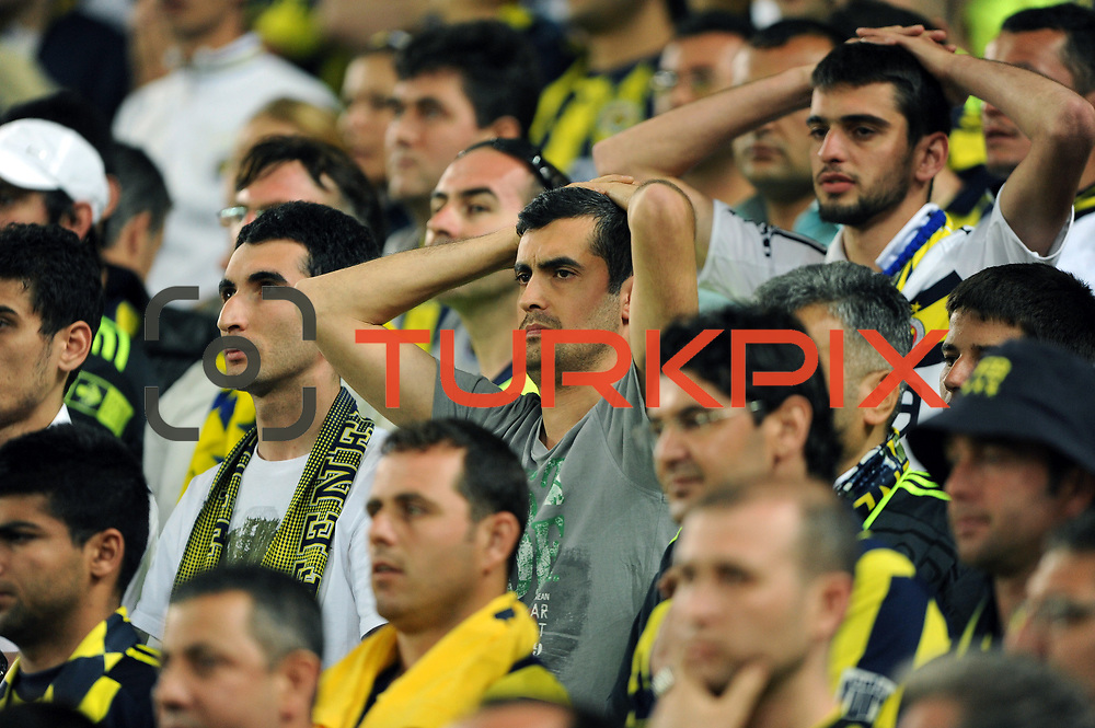 Fenerbahce's supporters during their Turkish superleague soccer derby match Fenerbahce between Trabzonspor at the Sukru Saracaoglu stadium in Istanbul Turkey on Sunday 16 May 2010. Photo by TURKPIX