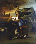 St Michael the Archangel. Raphael (1483-1520), Italian artist. Louvre, Paris