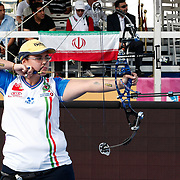 Laura LONGO (ITA) competes in Archery World Cup Final in Istanbul, Turkey, Saturday, September 24, 2011. Photo by TURKPIX