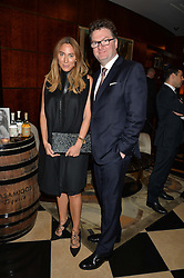 ALEX MEYERS and EWAN VENTERS at the London launch of Casamigos Tequila hosted by Rande Gerber, George Clooney & Michael Meldman and to celebrate Cindy Crawford's new book 'Becoming' held at The Beaumont Hotel, Brown Hart Gardens, 8 Balderton Street, London on 1st October 2015.