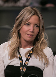 March 11, 2018 - Los Angeles, California, U.S - Owner, Jeanie Buss of the Los Angeles Lakers attends their NBA game with the Cleveland Cavaliers on Sunday March 11, 2018 at the Staples Center in Los Angeles, California. Lakers defeat Cavaliers, 127-113. (Credit Image: © Prensa Internacional via ZUMA Wire)