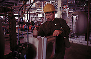 Novy Urengoy, Siberia, Russia, March 2000..Maintainence work at Gazprom production facilities in Siberia near the Arctic Circle.
