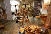 Traditional wool weaving craft workshop display and exhibition in village of Mertola, Baixo Alentejo, Portugal, Southern Europe
