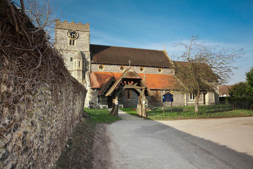 Parish Church of St Mary in Streatley, Berkshire, Uk