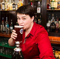Pictured: <br /> <br /> The Scottish Conservative leader Ruth Davidson viisted the Raeburn Bar in Edinburgh today to have a word withvoters.  The Scottish Conservative leader also spoke with staff at the Raeburn Bar in Stockbridge. <br /> <br /> Ger Harley | EEm 27 April 2016
