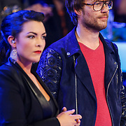 NLD/Amsterdam/20130418- Uitreiking 3FM Awards 2013, Caro Emerald en Giel Beelen