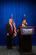Governor Chris Christie endorses presidential candidate Donald Trump speaks during a press conference before a campaign rally on February 26, 2016 in Fort Worth, Texas.  (Cooper Neill for The New York Times)