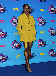 13 August  2017 - Los Angeles, California - Ryan Destiny. Teen Choice Awards 2017 held at the Galen Center in Los Angeles. Photo Credit: Birdie Thompson/AdMedia *** Please Use Credit from Credit Field ***
