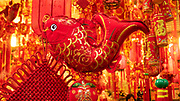 Brightly colored Vietnamese decorations for TET, New Years celebration